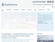 Tablet Preview of campbellbrown.co.nz